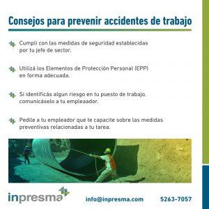 Consejos para prevenir accidentes laborales