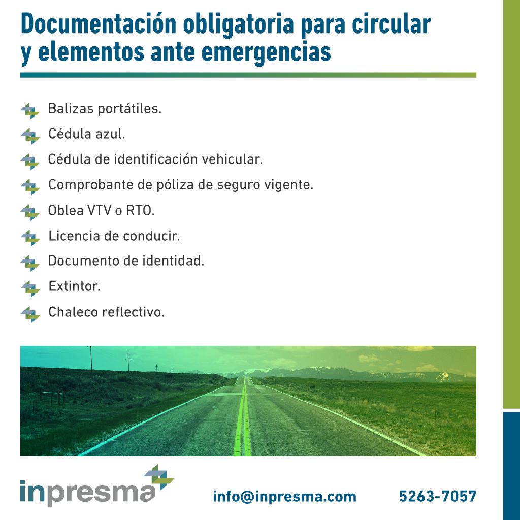 Documentación necesaria para circular
