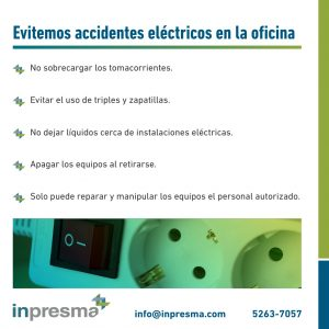 Evite accidentes electricos en la oficina