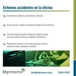Prevenir accidentes en la oficina