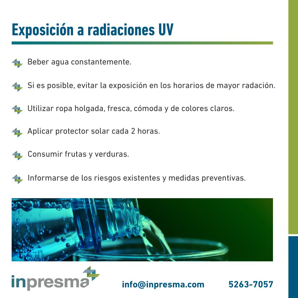 Exposicion a radiacion UV